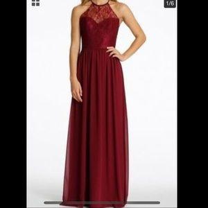 Hayley Paige Wine Bridesmaid Dress
